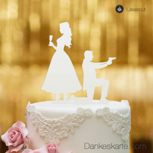 Cake Topper James - Weiss - XL