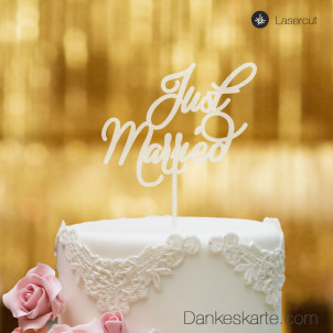 Cake Topper Just Married - Satiniert - XL