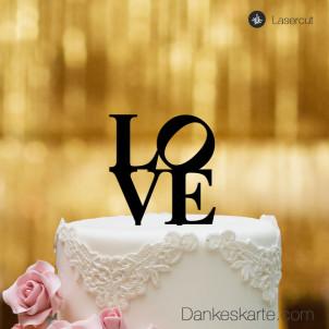Cake Topper Love - Schwarz - S