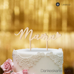 Cake Topper Mama - Buchenholz