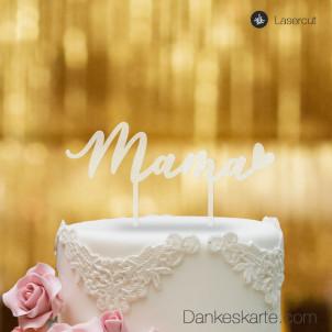 Cake Topper Mama - Satiniert