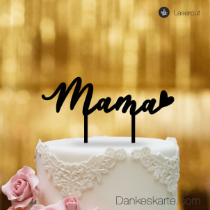 Cake Topper Mama - Schwarz