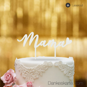 Cake Topper Mama - Weiss