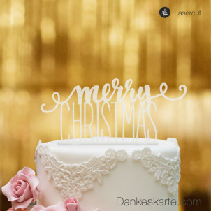 Cake Topper Merry Christmas 1 - Satiniert - XL