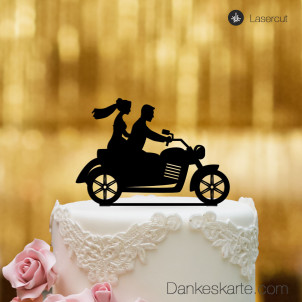 Cake Topper Motorrad - Schwarz - XL