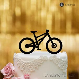 Cake Topper Mountainbike - Schwarz