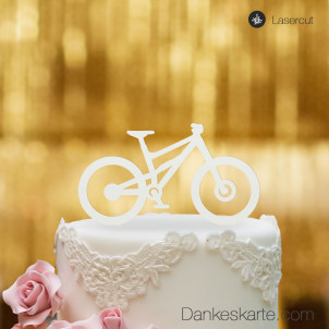 Cake Topper Mountainbike - Weiss