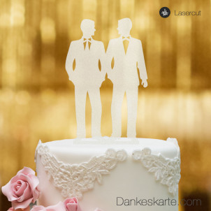 Cake Topper Mr&Mr - Satiniert - XL