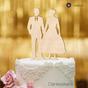 Cake Topper Mr&Mrs 2 - Buchenholz - XL