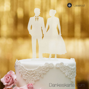 Cake Topper Mr&Mrs 2 - Satiniert - XL