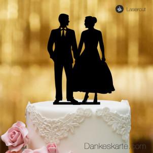 Cake Topper Mr&Mrs 2 - Schwarz - XL