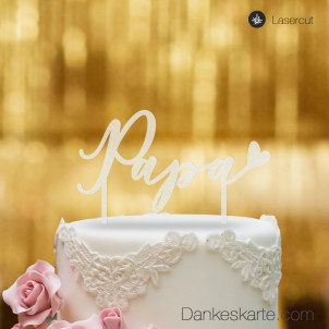 Cake Topper Papa - Satiniert