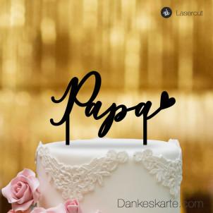 Cake Topper Papa - Schwarz