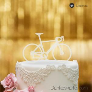 Cake Topper Rennrad - Satiniert