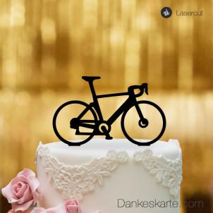 Cake Topper Rennrad - Schwarz