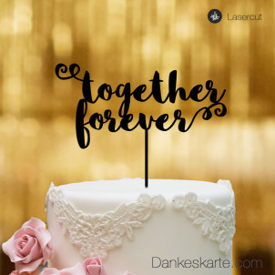 Cake Topper Together Forever - Schwarz - XL