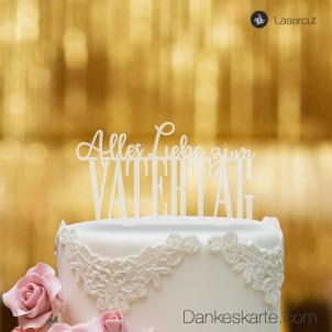 Cake Topper Vatertag - Satiniert - XL
