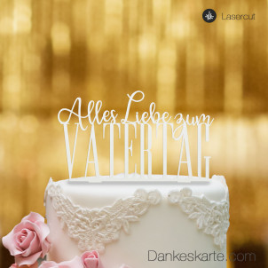 Cake Topper Vatertag - Weiss - XL