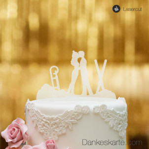 Cake Topper Wintersport - Satiniert - XL