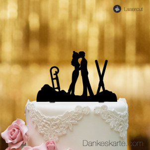 Cake Topper Wintersport - Schwarz - XL