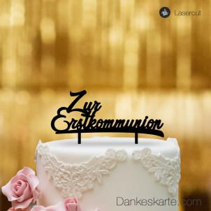 Cake Topper Zur Erstkommunion - Schwarz