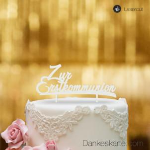 Cake Topper Zur Erstkommunion - Weiss