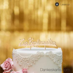 Cake Topper Zur Konfirmation - Buchenholz