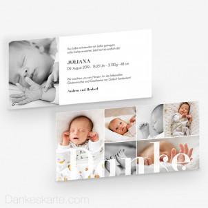 Geburtskarte Bildgewaltig 21 x 10 cm