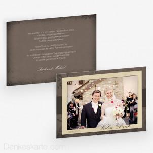 Dankeskarte Bold Frame 21 x 15cm