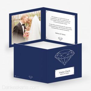 Dankeskarte Diamant 14.5 x 14.5 cm