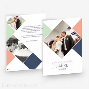 Dankeskarte Diamond 15 x 21 cm