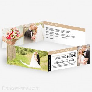 Dankeskarte Event Ticket 21 x 10 cm