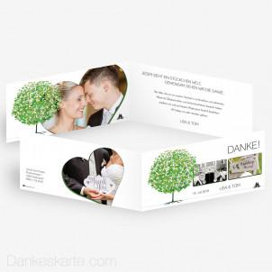 Dankeskarte Flourit 21 x 10 cm