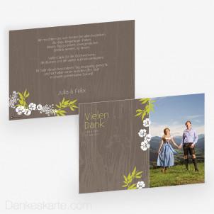 Dankeskarte Forest 21 x 15cm