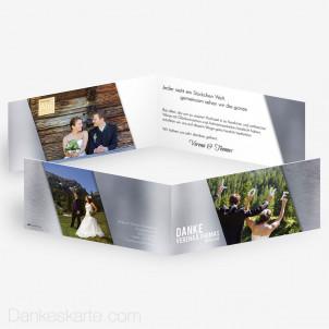Dankeskarte Glas und Metall 21 x 10 cm