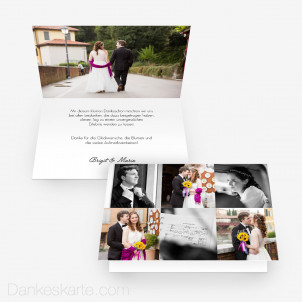 Dankeskarte In Szene gesetzt 15 x 10 cm Vertikalklappkarte