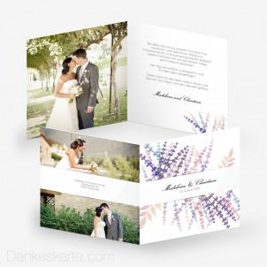 Dankeskarte Lavendel Zweige 14.5 x 14.5 cm