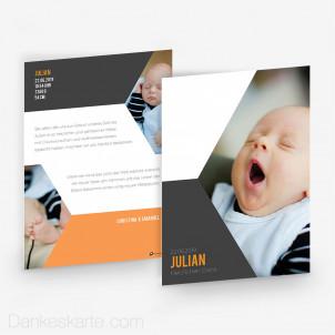 Babykarte Modern Shape 15 x 21 cm