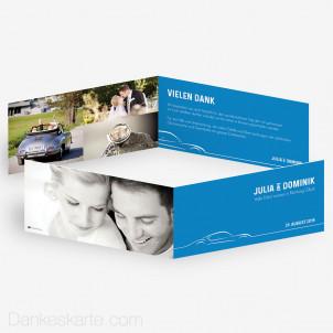 Dankeskarte Motorisiert 21 x 10 cm