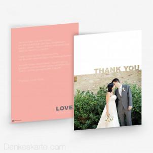 Dankeskarte Pastel Love 15 x 21 cm