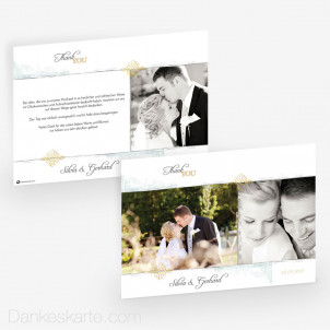 Dankeskarte Elegance 21 x 15cm DS