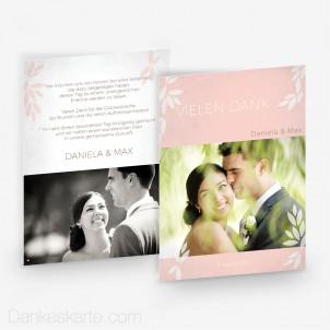 Dankeskarte Pink Blossom 15 x 21 cm