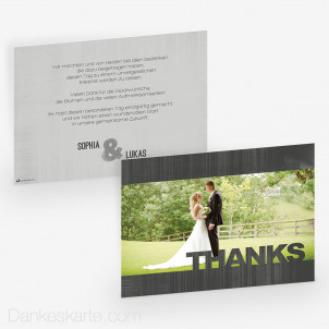 Dankeskarte Schiefer 21 x 15cm