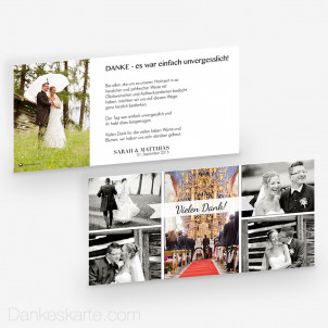 Dankeskarte Easy Full 21 x 10 cm