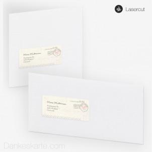Empfängeretikett Air Mail 9 x 4 cm