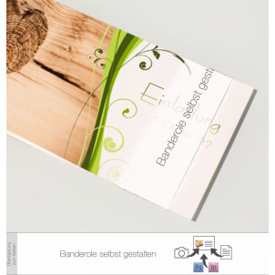 Transparente Banderole Eigenes Design (3 x 20 cm)