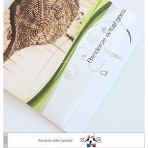 Transparente Banderole Eigenes Design (3 x 30 cm)