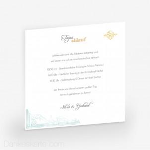 Einlegekarte Pocketfold Elegance 14 x 14 cm