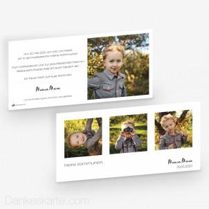 Kommunionskarte Klares Design 21 x 10 cm
