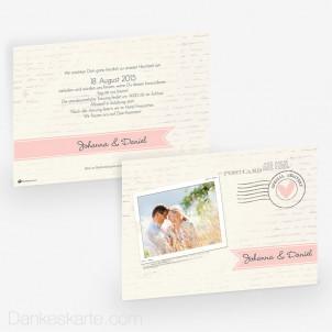 Hochzeitseinladung Air Mail 21 x 15cm